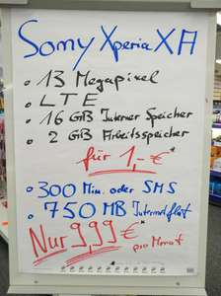 Sony Xperia XA für 1€ in 26169 Friesoythe Lokal