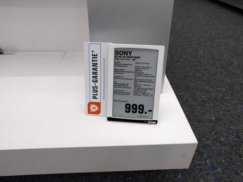 Sony KD 55 XD 8505 BAEP (Saturn Lokal Dortmund, Witten, Lünen)