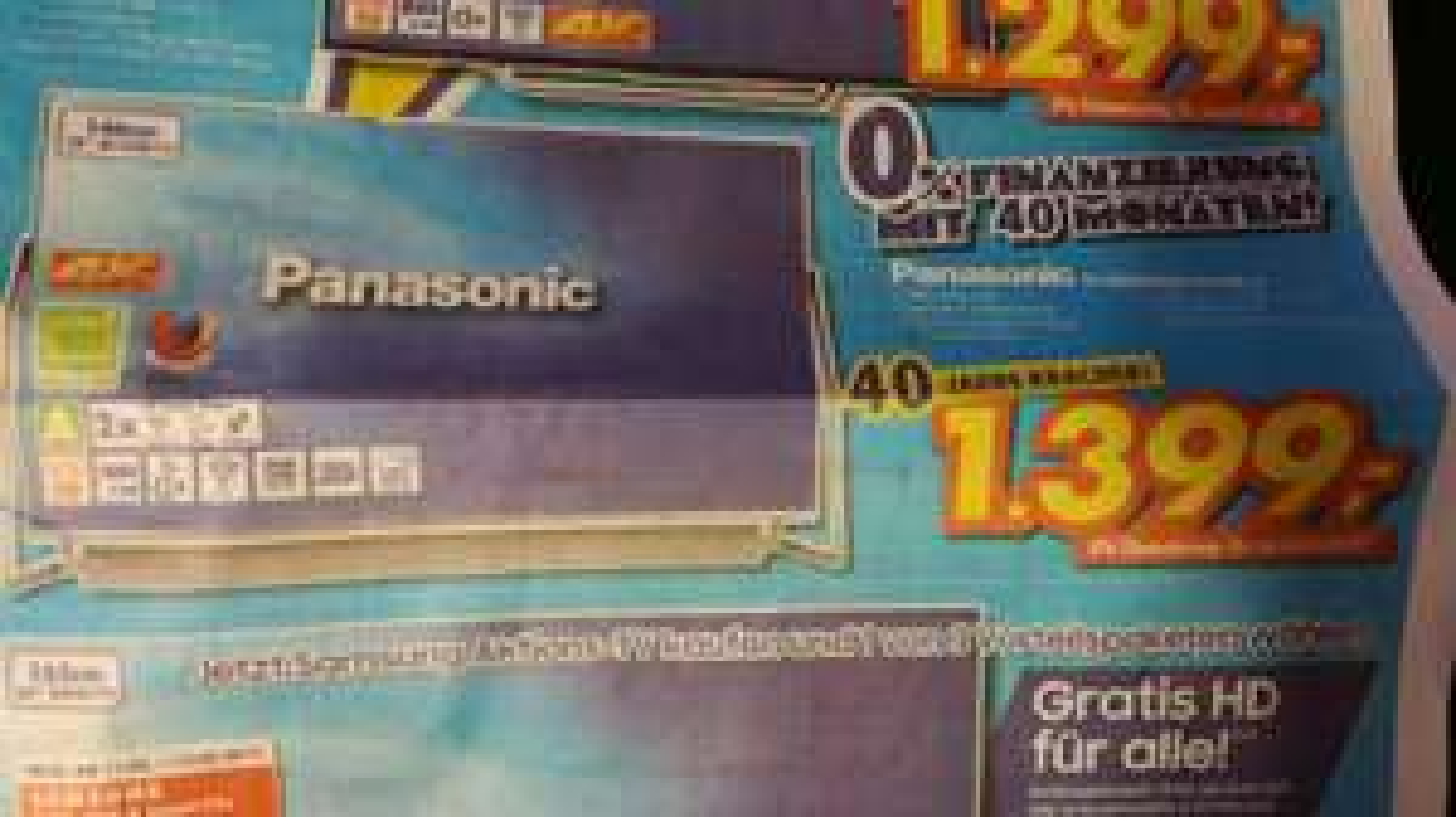 Panasonic 58DXW804 für 1399 Euronics