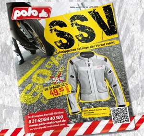 SSV bei Polo - Motorradbekleidung und -zubehör bis 60 % reduziert (ohne, dass die Preise zuvor angehoben wurden) :P