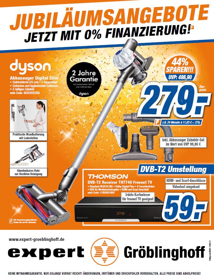 Dyson DC 62 Pro inkl. Zubehör Set für 279,00 €