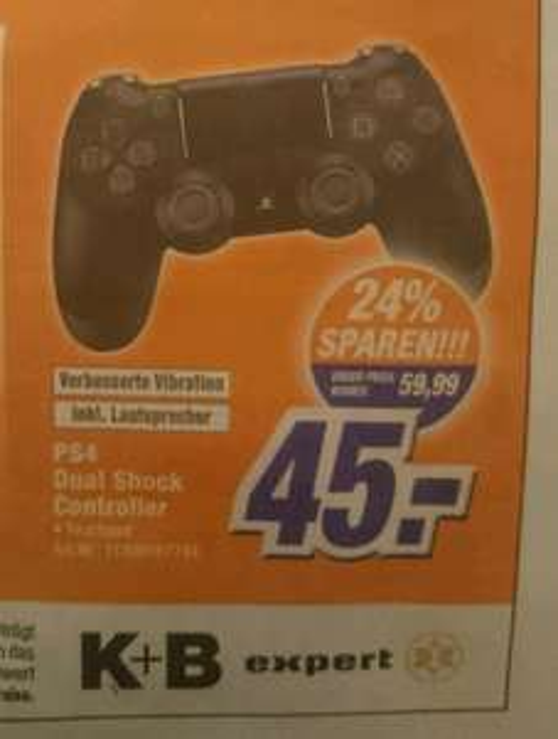 [lokal Rudolstadt K+B Expert] Sony PS4 Dual Shock Controller