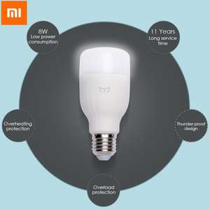 [Yoshop] Original Xiaomi Yeelight E27 Smart LED Lampe (nur weiß)