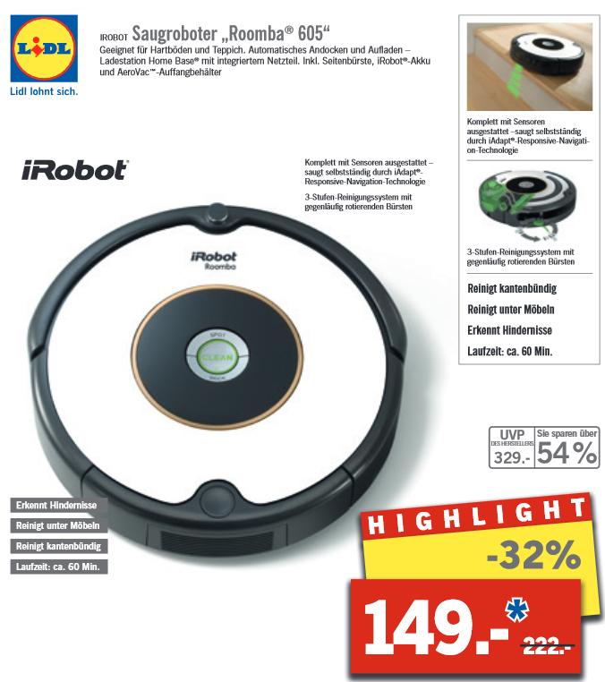 iRobot Roomba 605 [Lokal Hamm Wiescherhöfen & Düsseldorf][offline]