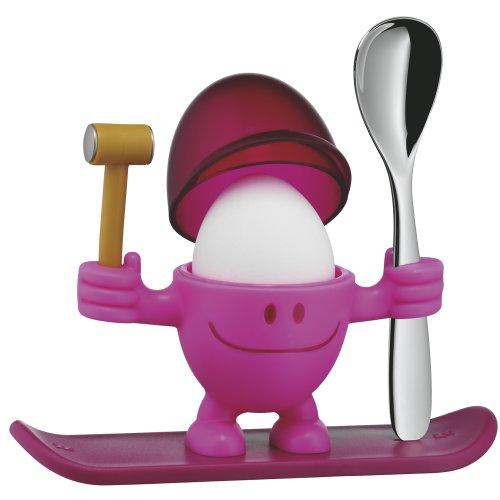 [Amazon Prime oder Mediamarkt] WMF McEgg pink Eierbecher aus Kunststoff mit Löffel aus Cromargan Edelstahl rostfrei Höhe 11 cm spülmaschinengeeignet