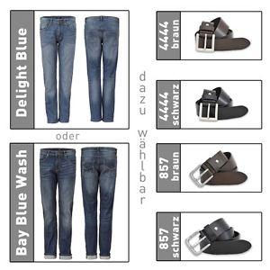 "H.I.S Jeans Herren ""Stanton"" [Bay Blue oder Delight Blue] & Ledergürtel [Gürtel Braun o. Schwarz] für 24,99€ @ebay.de (sediva-prime)"