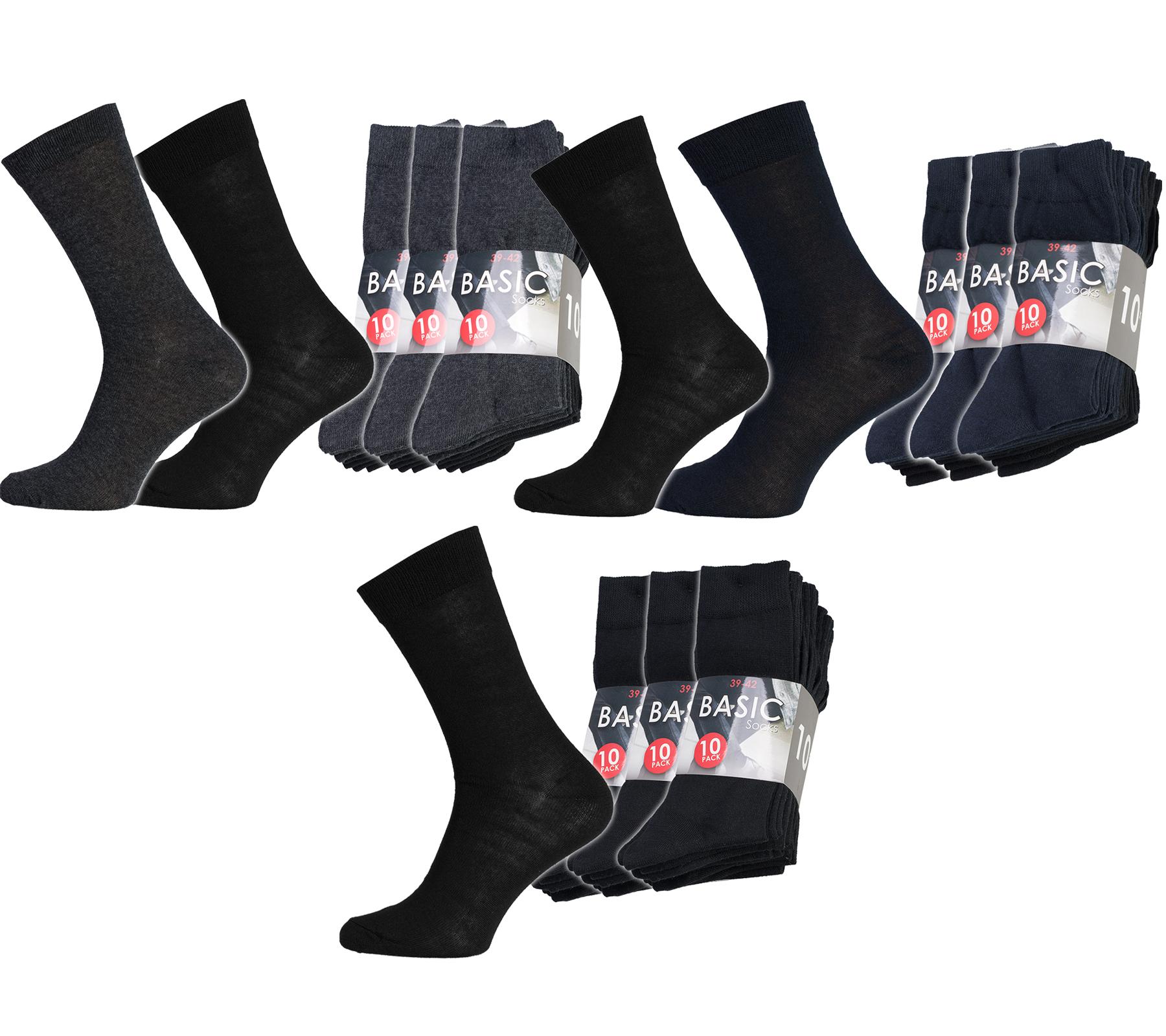 30er Pack Basic Business Socken für 10€ - für die Größen 39 bis 46, verschiedene Farben