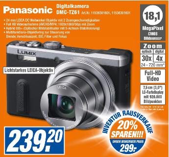 [lokal - Expert Jakob - Bayreuth, Hof] Panasonic Lumix DMC-TZ61