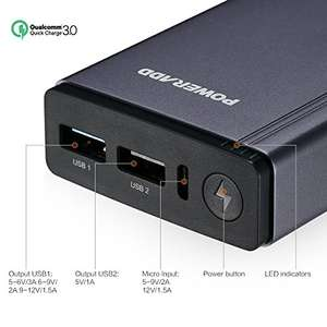 [Amazon Prime] Poweradd 10050mAh Quick Charge 3.0 Powerbank