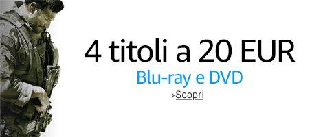 [Amazon IT] 4 DVD`s oder Blu Rays für 20€