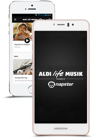 AldiLife/NAPSTER Musikflat 2 Monate für lau