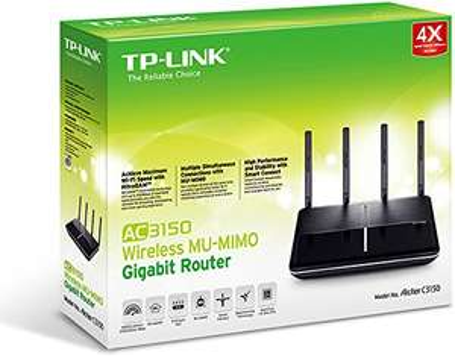 [amazon.it] TP-Link Archer AC3150 Gigabit Dualband WLAN Router (1000 Mbit/s(2,4GHz)+2167 Mbit/s(5GHz), MU-MIMO, Beamforming, App Steuerung, VPN, USB 3.0)