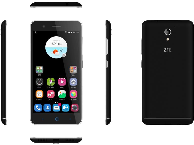 Mediamarkt ZTE Blade A510 in Schwarz,Weiß oder Grau für 69€. 5Zoll, 1Gb/8Gb