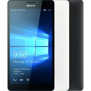 [rakuten] Microsoft Lumia 950 XL Smartphone (5,7 Zoll Touch-Display, 32 GB Speicher, 3GB RAM, Snapdragon 810, 3.340 mAh, 20 MP, microSD, Windows 10) in schwarz