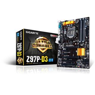 Gigabyte GA-Z97P-D3 Intel Z97 So.1150 Dual Channel DDR3 ATX Retail Mainboard