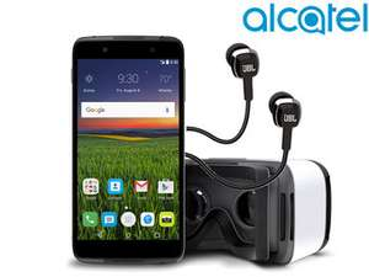 [ibood]  Alcatel Idol 4+ Smartphone (5,2 Zoll IPS FullHD-Display, Android 6.0, 16 GB Speicher, 3GB RAM, Snapdragon 617, 2.610 mAh, 13MP, Dual SIM, NFC, LTE, dunkelgrau) + VR-Brille für 206€ statt 255€