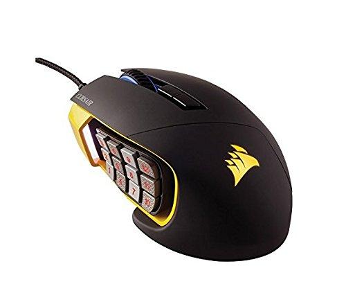 [amazon.fr] Corsair Gaming CH-9000091-EU Scimitar Optische Gaming Maus (Multi-Colour RGB Beleuchtung Performance 12000 DPI) schwarz/gelb für 69€ statt 82€