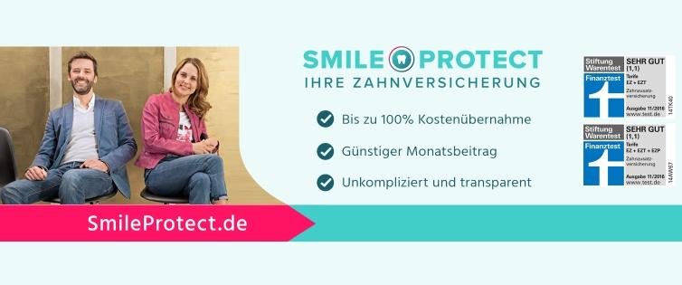 [Shoop] 150€ Cashback bei Abschluss einer SmileProtect-Zahnversicherung; 114,96€ Gewinn möglich (bis zum Alter von 20 Jahren der versicherten Person)