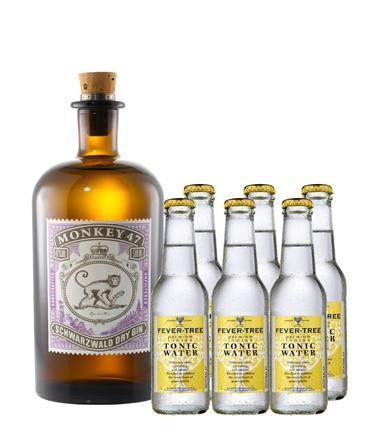 [Gourmondo] Monkey 47 Gin 0,5l + 11x Fever Tree Tonic 0,2l für 39,13€