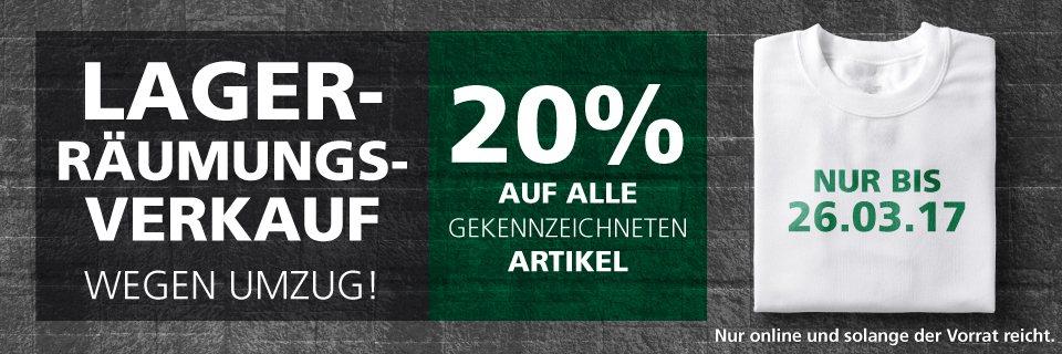 Räumgsverkauf bei McTrek - 20 % Ersparnis auf bereits reduzierte Teile möglich + 10 Euro NL-Gutschein