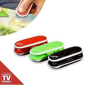 Zipp Zapp 3 Stück rot grün schwarz -->  Versiegeln Verschließen Aufbewahren --> 12,- € inkl. Versand statt 29,90 €