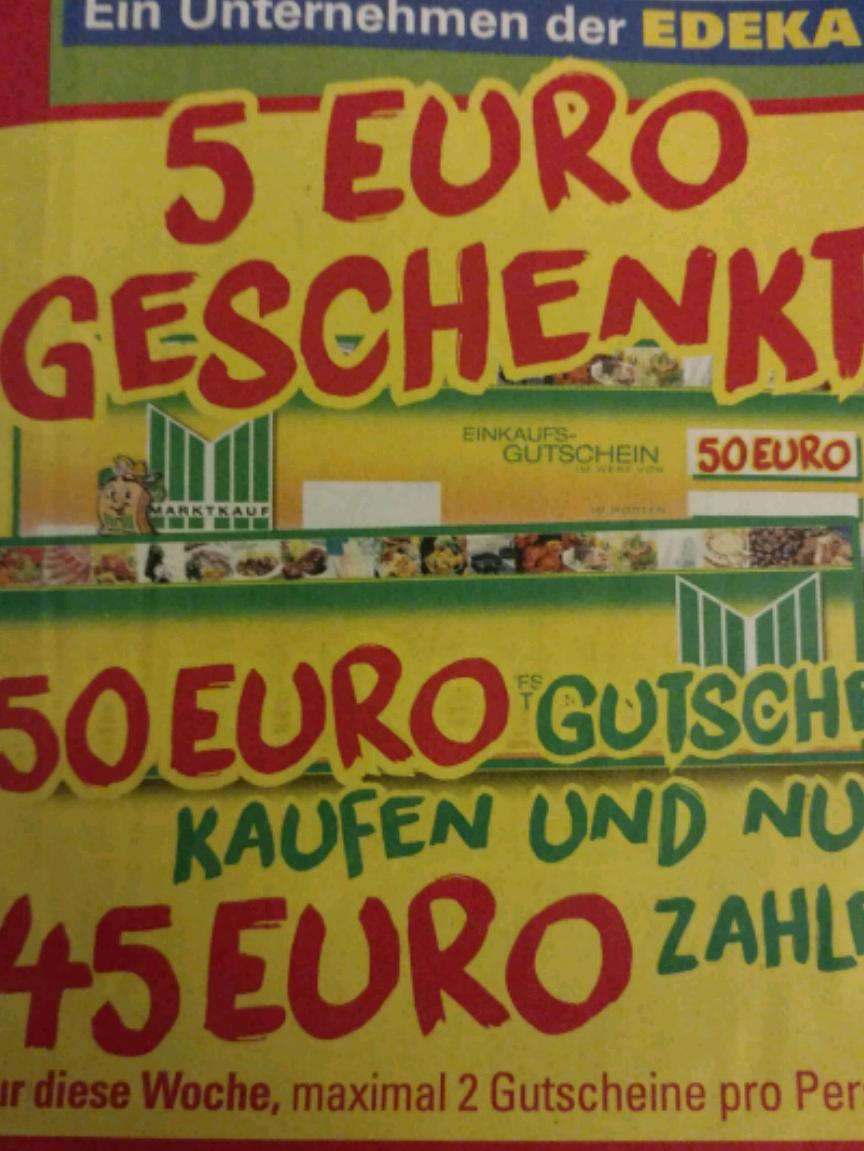 Lokal Marktkauf Löhne - 50 Euro Gutschein für 45 Euro