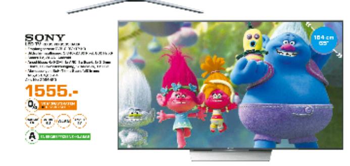 Fernseher TV Sony KD65XD8505  4K HDR Saturn Lokal Witten und Dortmund