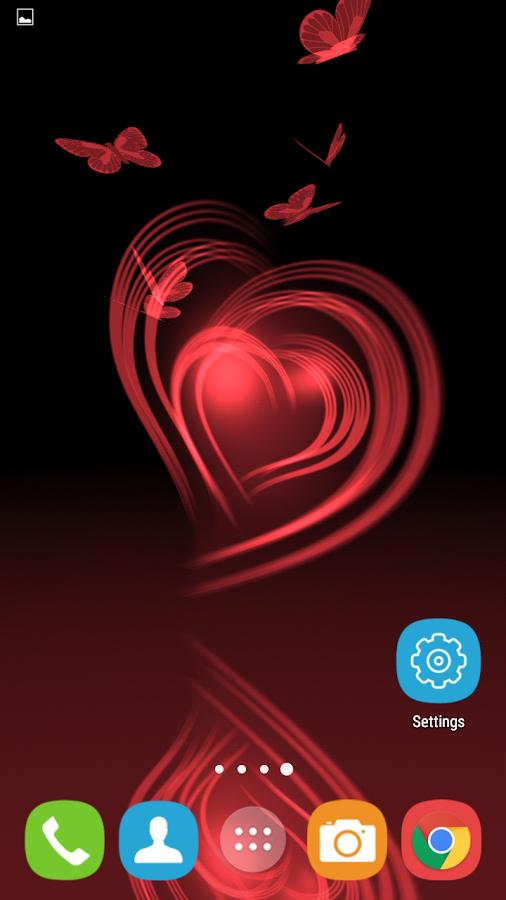 "[Google Play Store] ""Butterflies in your Heart"" live Hintergrund App"