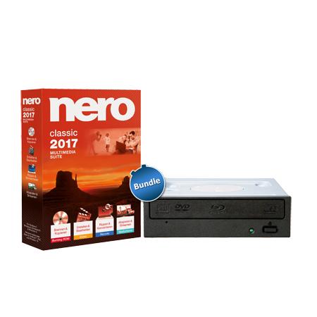 "Pioneer Blu-Ray Brenner ""BDR-209EBK"" (bulk) + Nero 2017 (Classic)"
