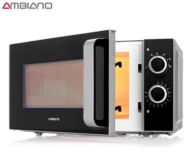 Ambiano Mikrowelle 700 Watt, 6 Leistungsstufen, Timer,  3 Jahre Garantie @ Aldi-Süd ab 13.3.
