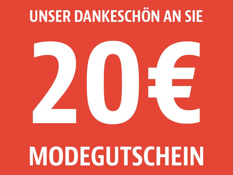 20 € Gutschein ab einem Einkaufswert von 100 € [Lokal: Krug/begro Bad Berleburg, Biedenkopf, Breidenbach, Gladenbach, Marburg]: