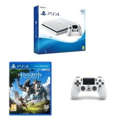 Sony PlayStation 4 Slim + 2. Dualshock 4 v2 Controller + Horizon: Zero Dawn für 273 € inkl. Versand (ShopTo)