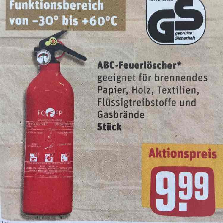 ABC Feuerlöscher bei Rewe vielleicht Bundesweit