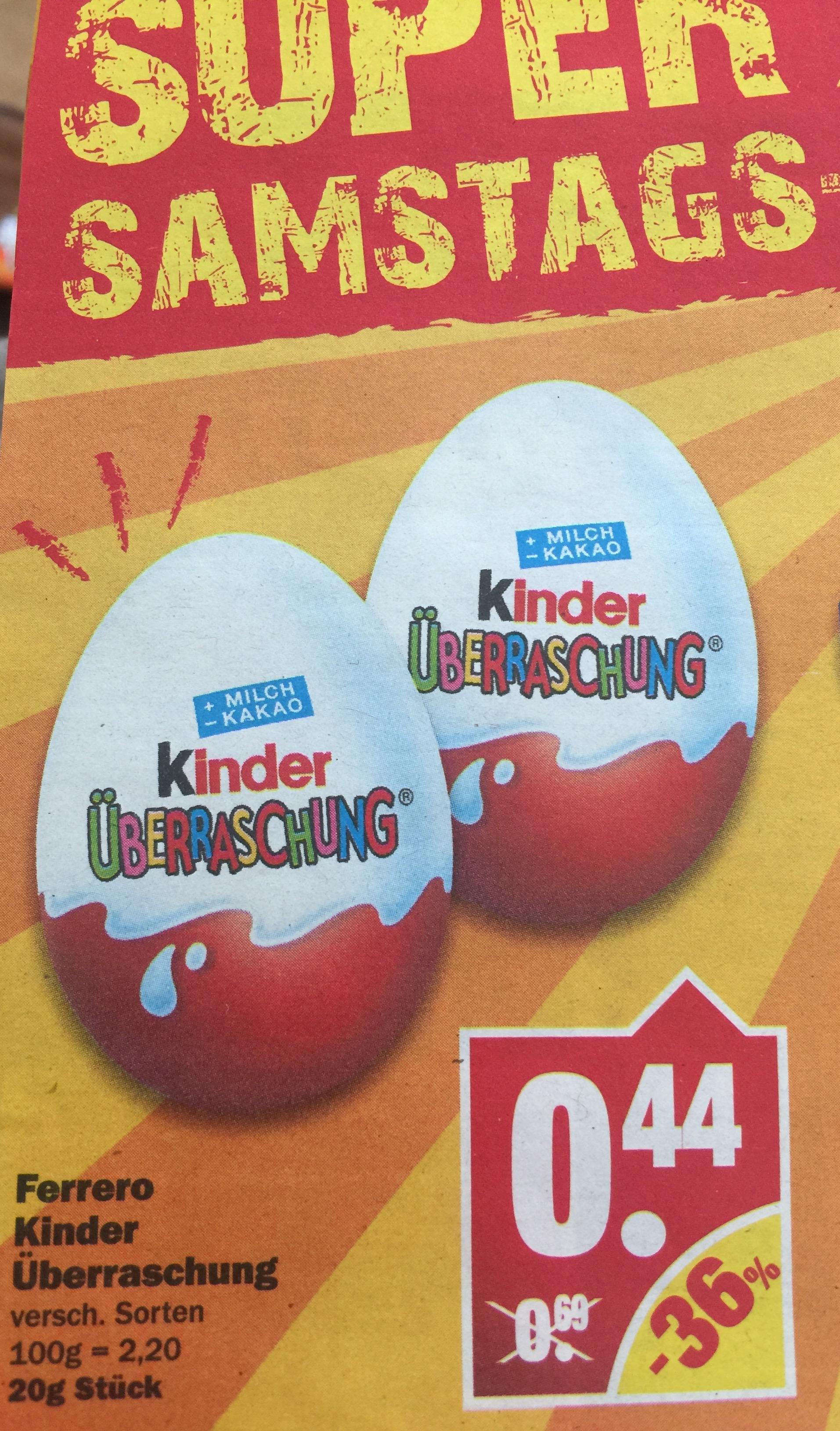 Kinder Überraschung Ü-Ei für 0,44€ [NP am 18.03]