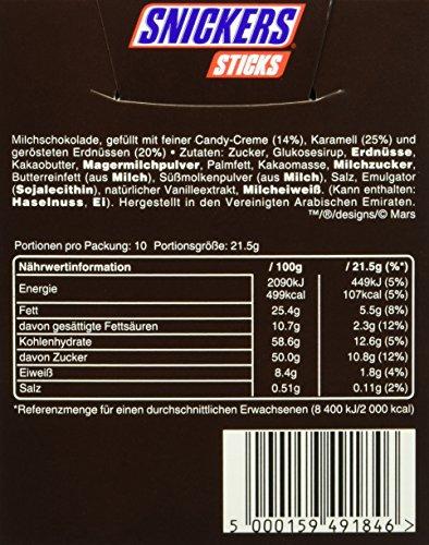 Snickers Sticks 10 Riegel, 7er Pack (7 x 10 Riegel)