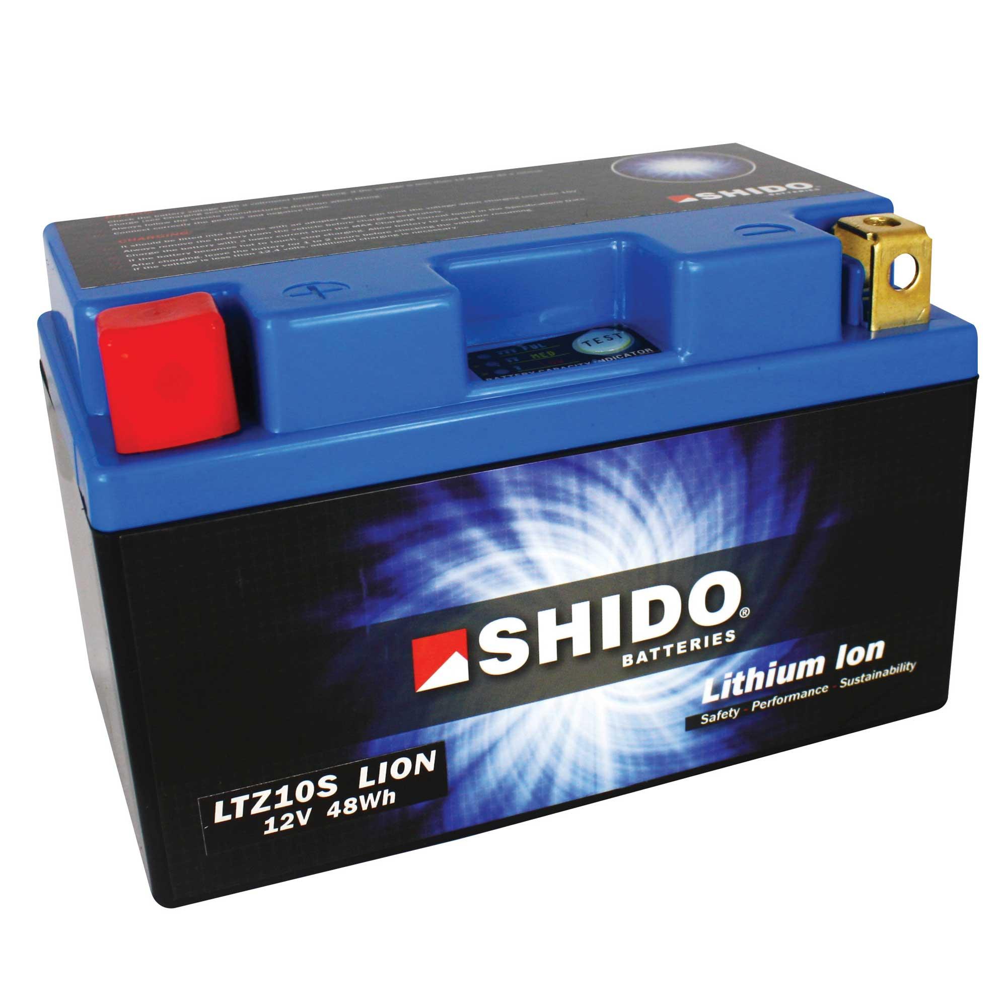 SHIDO Motorrad Li-Ionen Batterie LTZ10S mit 3 Jahren Garantie