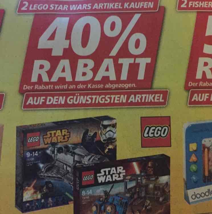 [offline real] 40% Rabatt auf den 2. LEGO Star Wars Artikel