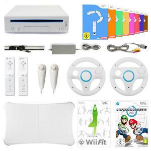 Wii Konsole + 8 Spiele + Mario Kart + Wii Fit + Balance Board + Remote (B-Ware-Ebay)