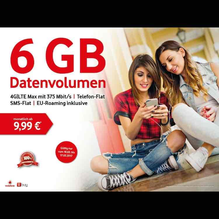 [Lokal NRW] Vodafone Young L Gratis mit GigaKombi (oder ohne 9,99€) | 6GB LTE MAX | Allnet-Flat | SMS Flat | EU Roaming Flat