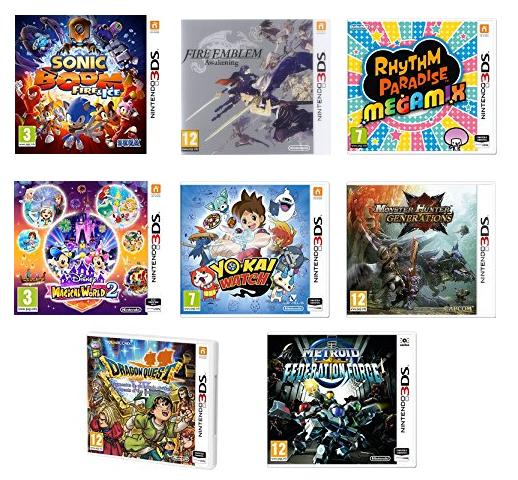 [Amazon.es] 3 Nintendo 3DS Spiele kaufen und nur für 2 zahlen