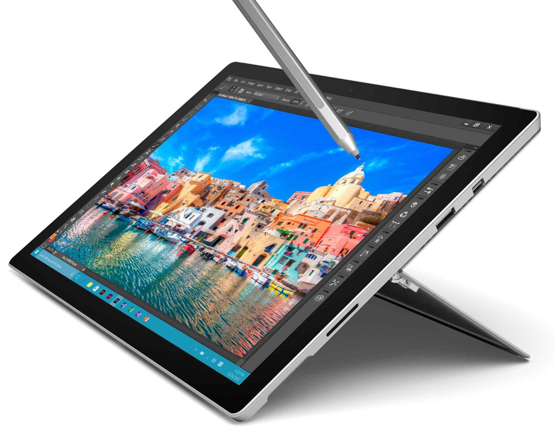 "[Abgelaufen] Microsoft Surface Pro 4, 256GB SSD inkl. Type Cover und Sleeve (12.30"", Intel Core i5-6300U, 8GB, SSD)"