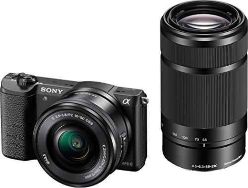 [amazon.fr] Sony Alpha 5100 Systemkamera (180° drehbares 3 Zoll LC-Display, 24,3 Megapixel, Exmor APS-C Sensor, Full HD Video) inkl. SEL-P1650 und SEL-55210 für 601€ statt 727€