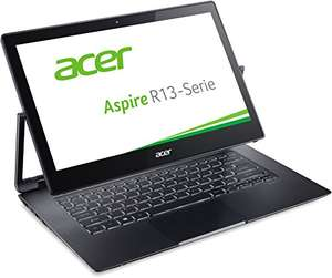 Acer Aspire R 13 (R7-372T-53E0) 33,8 cm (13,3 Zoll Full HD IPS) Convertible Notebook (Intel Core i5-6200U,8GB RAM, 256GB SSD, Intel HD Graphics 520, Win 10 Home, Multi-Touch) grau