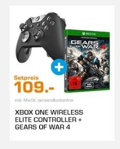 Xbox One Elite Controller + Gears of War 4 für 109€ [Saturn]