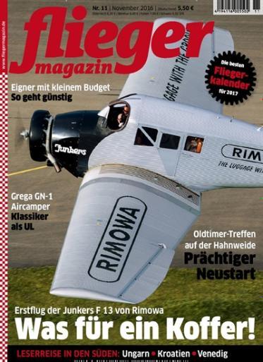 12 Ausgaben fliegermagazin für 74,40 € --> mit 70 € amazon Gutschein oder 65 € Verrechnungsscheck