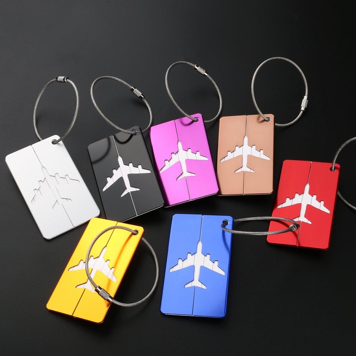 7 Kofferanhänger aus Aluminium für 1,97€ Amazon Prime