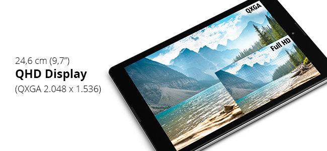 [Medion] MEDION LIFETAB P9701 24,6 cm (9,7 Zoll) Tablet mit QHD Display, Quad-Core-Prozessor, 2 GB RAM, 32 GB Speicher, Android 6.0, titan