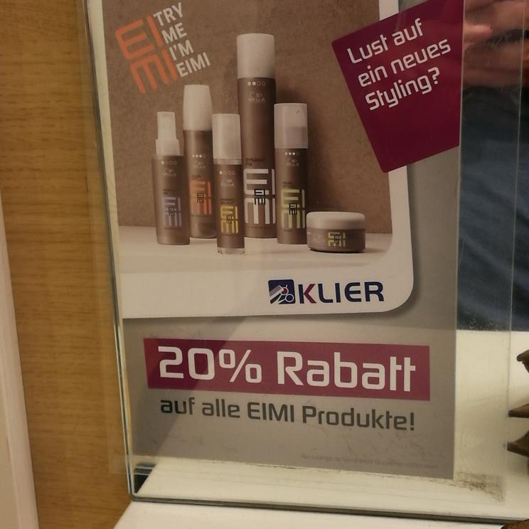 [Offline] Friseur Klier: 20% auf Eimi-Produkte