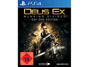 Deus Ex - Mankind Divided ( Day One Edition ) inkl. Steelbook PS4 oder Xbox One nur 17€ [Media Markt gönn dir Dienstag]