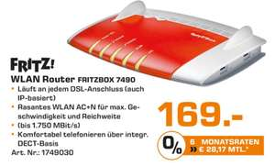 [ Lokal Köln ] FRITZ!Box 7490 für 169 € im Saturn Hansaring & Weiden